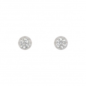 Bi-Colour Diamond Stud Earrings